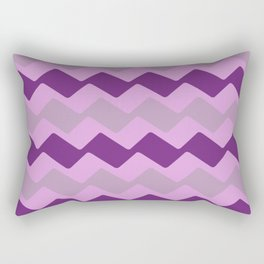 Purple Zig Zag Pattern Rectangular Pillow