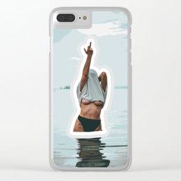 FUn in the Water Clear iPhone Case