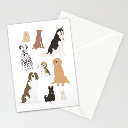 All Kinds of Dogs Stationery Cards