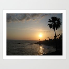 Laguna Beach Sunset Art Print