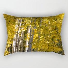 Golden Aspens Rectangular Pillow