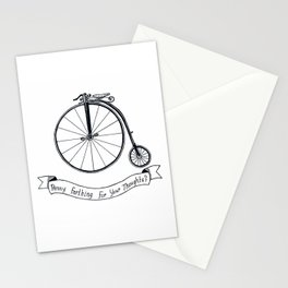 Penny Farthing For Your Thoughts? Stationery Cards