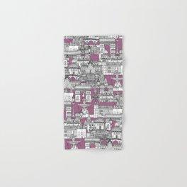 Paris toile raspberry Hand & Bath Towel