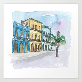 Prado Street Scene Havana Cuba Art Print