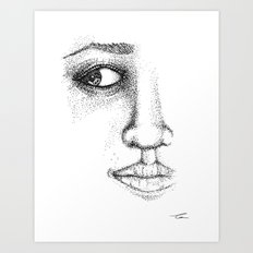 Fine Liner Stippling Girl 1 Art Print
