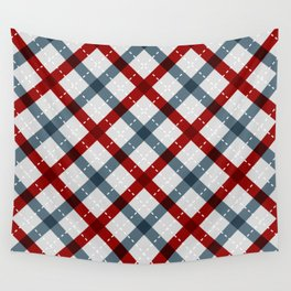 Colorful Geometric Strips Pattern - Kitchen Napkin Style Wall Tapestry