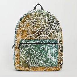 Belfast Northern Ireland City Map Backpack