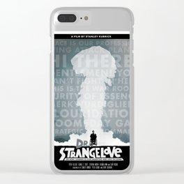 Dr. Strangelove alternate movie poster Clear iPhone Case