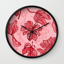 Abstract Tulips - Pink Wall Clock