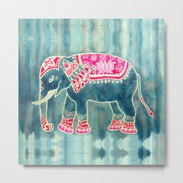 Elephant Indian Style Metal Print