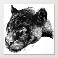 panther Canvas Prints featuring Panther by Mark Matlock