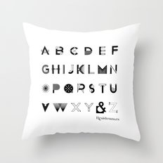 Modernissimo Font Throw Pillow