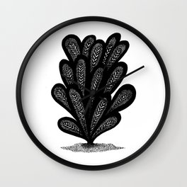 Decorated Beavertail Plant Wall Clock