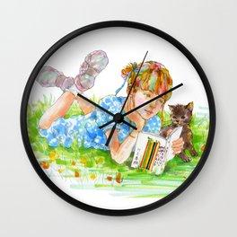 A girl with a kitten vol. 5 Wall Clock