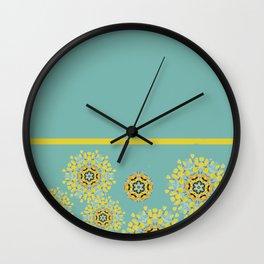 bee's flower down Wall Clock