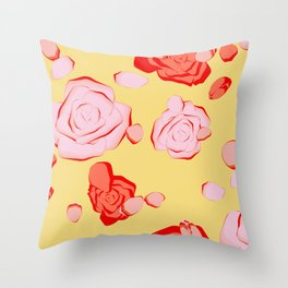 Roses pattern 3b Throw Pillow
