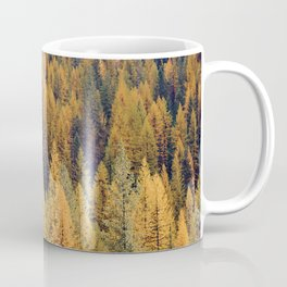 Autumn Tamarack Pine Trees Coffee Mug