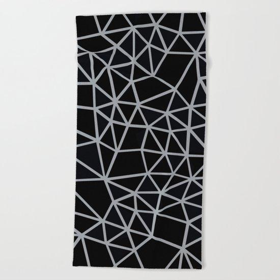 Segment Grey and Black Beach Towel