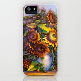 Oil painting a bouquet of flowers . Impressionist style 3 iPhone Case