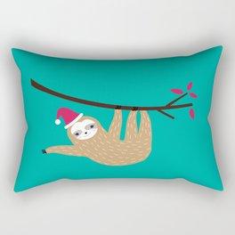 Merry Slothmas Rectangular Pillow
