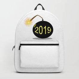 Cartoon 2019 New Year Bomb Backpack