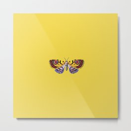 Aesthetic Embroidered Butterfly Metal Print