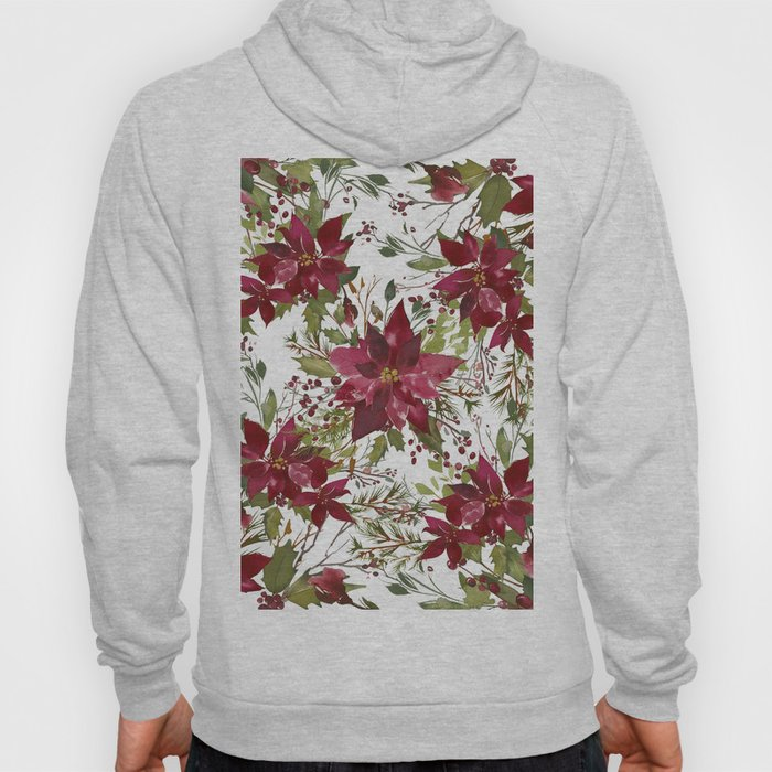 Poinsettia Flowers Hoody