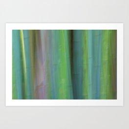 Bamboo Abstract Art Print