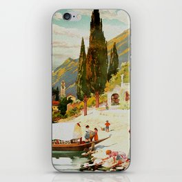 Switzerland and Italy Via St. Gotthard Travel Poster iPhone Skin
