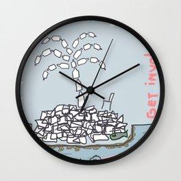 Plastic Isle Wall Clock