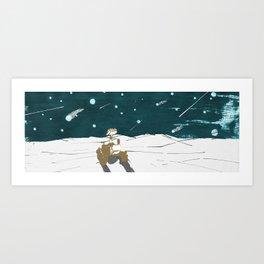 Falling stars for Curiosity Art Print