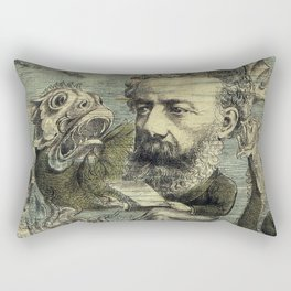 Vintage Jules Verne Periodical Cover Rectangular Pillow