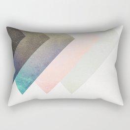 Geometric Layers Rectangular Pillow