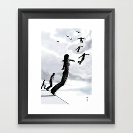 Sky dive to freedom Framed Art Print