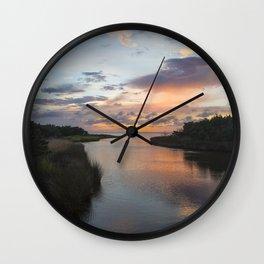 Sound Side Sunset Wall Clock