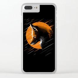 Rising fox Clear iPhone Case
