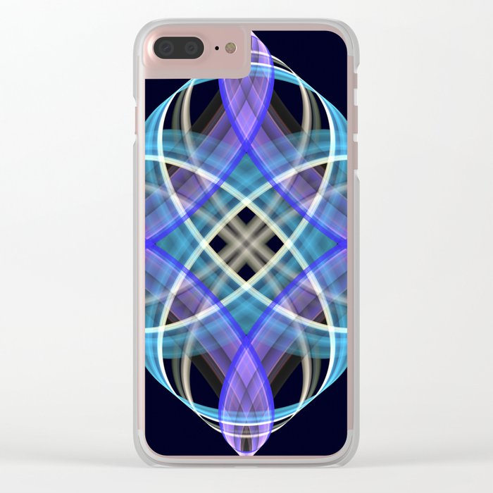Four points geometric pattern design Clear iPhone Case