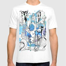 Distant Parts MEDIUM Mens Fitted Tee White