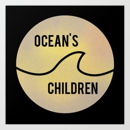 Ocean's Children Logo Art Print