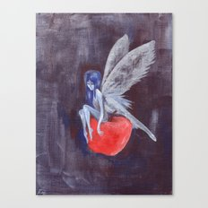 Fairy Loves Apple Canvas Print