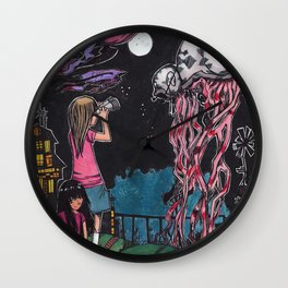 Psychedelic sea creatures Wall Clock