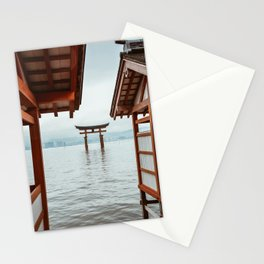 Itsukushima Shrine. Torii gate. Miyajima, Japan. Travel print - Photography wall art. Art print. Stationery Cards