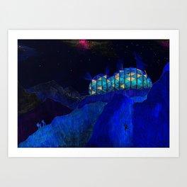 The mountain shelter Art Print