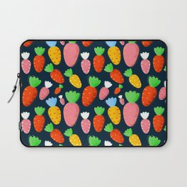 Carrots not only for bunnies - seamless pattern Laptop Sleeve
