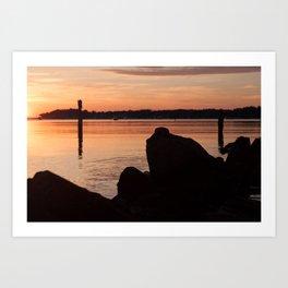Sunrise Beach - cm2b Photography (1 of 7) Art Print