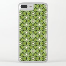 Greenville Pattern Clear iPhone Case