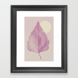 Delicate Leave Framed Art Print