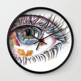 Koi Fish in Eye Wall Clock