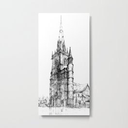 Collegiate Church of St Gertrude, Nivelles Metal Print
