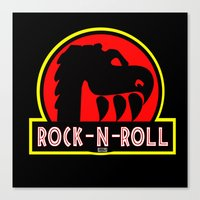 rock n roll Canvas Prints featuring Rock n Roll lives! by Los Espada Art